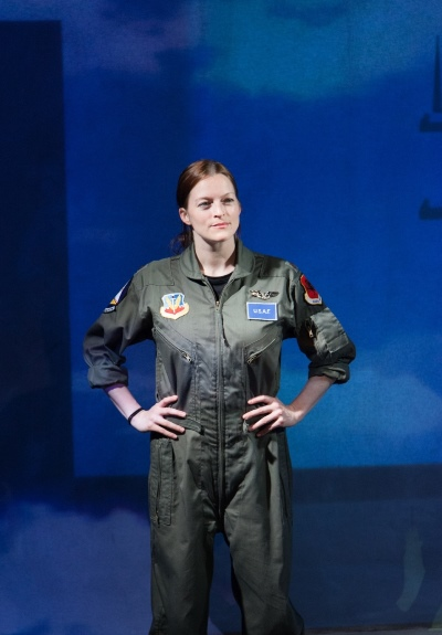 The ace jet fighter pilot (Gwendolyn Whiteside) prides herself on her skill and grit. (Johnny Knight)