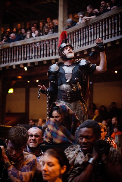 Titus Andronicus (William Houston) gets a hero's welcome in Rome after subduing the Goths. (Simon Kane)