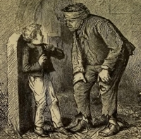 Illustration detail from Charles Dickens' 'Great Expectations,' 1867 edition. (Project Gutenberg)