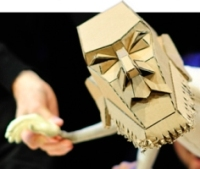 Moses is a cantankerous puppet in 'The Table,' a return engagement by England's Blind Summit for CST.