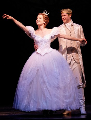 Paige Faure as Cinderella with Andy Jones as the Prince in 'Cinderella.'. (Carol Rosegg)