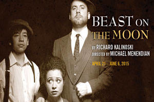 Poster art for the Raven Theatre production of Richard Kalinoski's 'Beast on the Moon.'