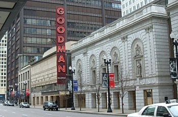 The Goodman Theatre is a cultural anchor in Chicago's Loop