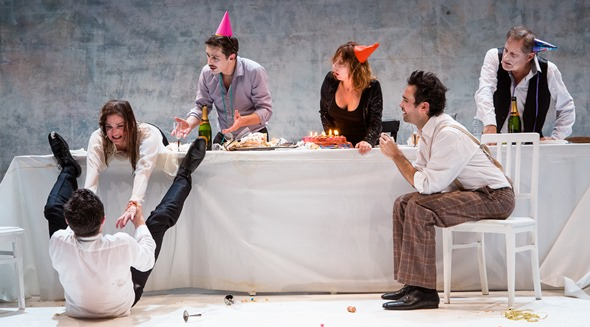 'Ionesco Suite' is physical -- and messy -- theater of the absurd. (Agathe Pouoponey)