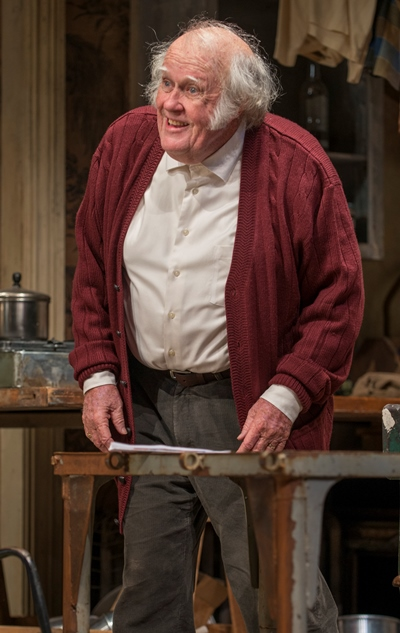 Landlord Maurice (M. Emmet Walsh) keeps a close eye on the apartment and its inhabitants. (Michael Brosilow)