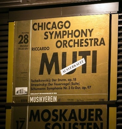 All four Chicago Symphony Orchestra concerts at the Vienna Musikverein were sold out. (Todd Rosenberg)
