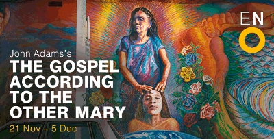 English National Opera poster for 'The Gospel According to the Other Mary'