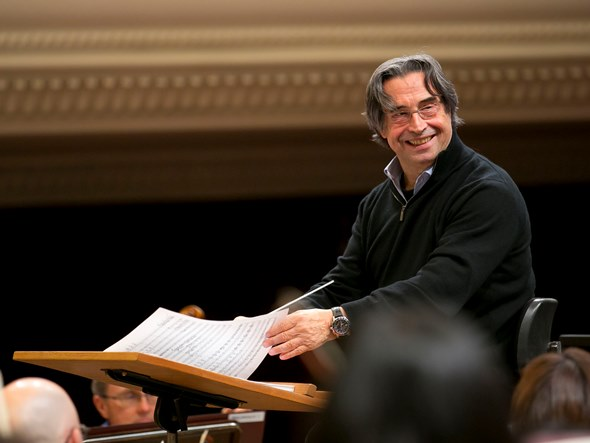 Riccardo Muti, keeping the mood relaxed in Warsaw on the Chicago Symphony's 2014 fall tour. (Todd Rosenberg)