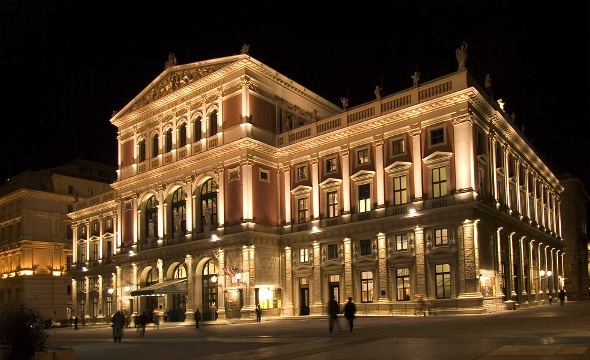 Spectacular at night on the outside, the Vienna Musikverein is even more luxurious within, the crown jewel of Vienna music.