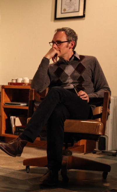 The therapist (Coburn Goss) takes in his patient's troubling ghost story. (Emily Schwartz)