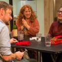 Boyfriend Richard (Lance Baker, foreground) learns a family tradition from the Blakes, from left, Erik (Keith Kupferer), Deirdre (Hanna Dworkin), Aime