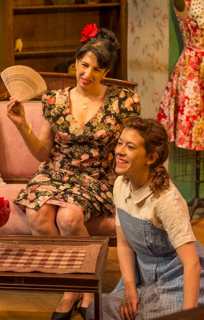 Eileen Niccolai is Serafina and Daniela Colucci her daughter Rosa in 'The Rose Tattoo,' produced by Shattered Globe. (Michael Brosilow)