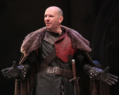 Macbeth (Chris Genebach) throws away his honor for the vague promise of a king's crown. (Liz Lauren)