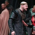The unnerving reality of their bloody coup begins to catch up with Macbeth (Chris Genebach) and Lady Macbeth (Lanise Antoine Shelley). (Liz Lauren)