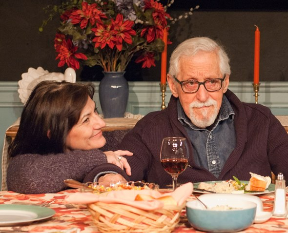 Barbara (Janet Ulrich Brooks) coaxes memories from her Uncle Benjamin (Mike Nussbaum) in 'That Hopey Changey Thing.' (Lara Goetsch)