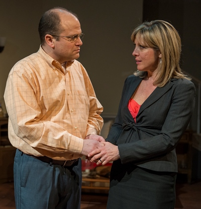 Getting through to Julianna (Lia D. Mortensen) is a constant challenge for husband Ian (Steve Silver). (Michael Brosilow)
