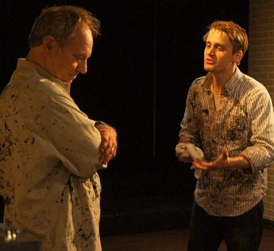 Ken (Aaron Kirby, right) presses Rothko (Brian Parry) to accept the changing world of art. (Jan Ellen Graves)