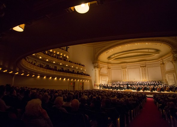 Riccardo Muti, the Chicago Symphony Orchestra and Chorus performed 'Alexander Nevsky' at Carnegie Hall Feb. 1, 2015. (Todd Rosenberg)