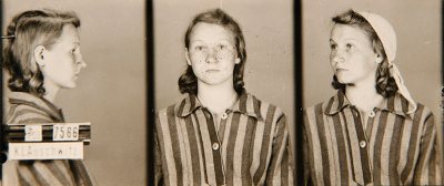Zofia Posmysz, age 18, upon induction at Auschwitz