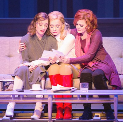 Annie (Carmen Cusack, left), Elise (Christine Sherrill) and Brenda (Faith Prince) commiserate. (DJ Pierce)