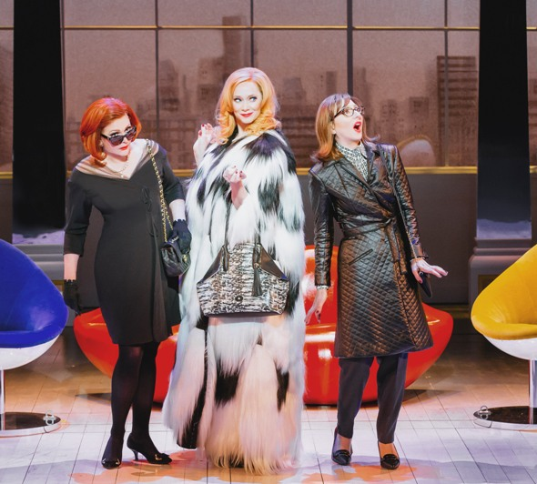 First wives sing 'I'm So Lucky,' but they don't really mean it in this Broadway-bound musical remake of the iconic film. (DJ Pierce)