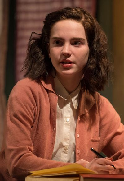 Portrait of a diarist, Sophie Thatcher as Anne Frank. (Michael Brosilow)