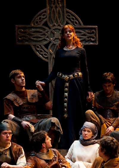 The people know their queen, and it is Gruach (Siobhan Redmond). (Richard Campbell)