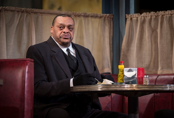 A.C. Smith as the undertaker West in August Wilson's 'Two Trains Running' at Goodman Theatre. (Liz Lauren)