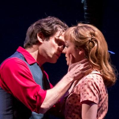 Billy (Steven Pasquale) falls hard for Julie (Laura Osnes) in 'Carousel' at Lyric Opera of Chicago. (Todd Rosenberg 2015)
