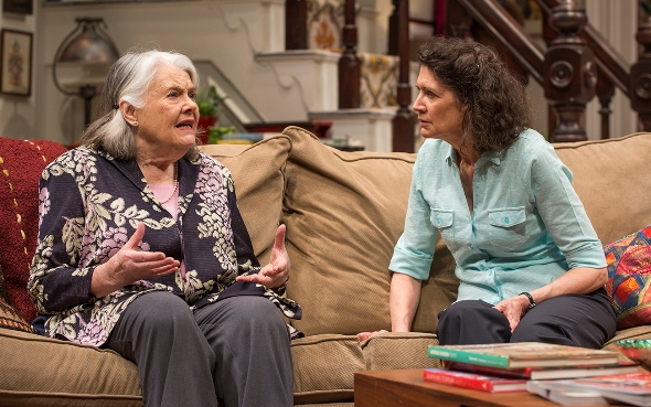 Carol (Molly Regan, right) listens to wise counsel from her mother (Lois Smith) in 'The Herd.' (Michael Brosilow)
