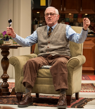 Carol's father (John Mahoney) gives a performance on the spoons. (Michael Brosilow)