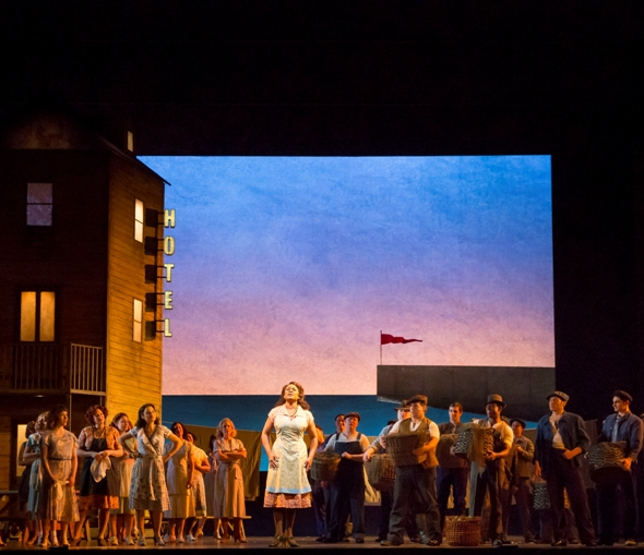 Nettie (Denyce Graves) is the self-styled conscience of the community in 'Carousel' at Lyric Opera of Chicago. (Todd Rosenberg)