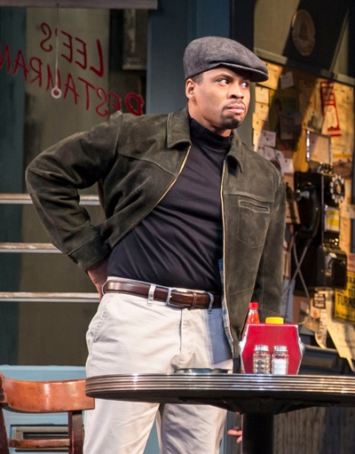 Chester Gregory (as Sterling) got a surprise when A.C. Smith changed the tone of a scene. (Liz Lauren)