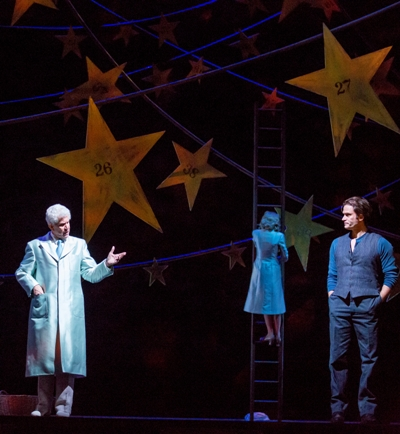 The starkeeper (Tony Roberts) decides to give Billy (Steven Pasquale) another chance in 'Carousel.' (Todd Rosenberg 2015)