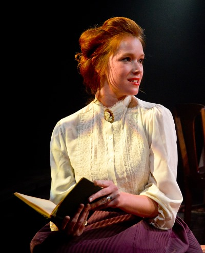 Despite an empty heart, Masha (Lindsey Gavel) tries to smile. (Evan Hanover)