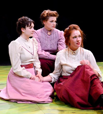 Portraying Chekhov's three sisters, from left, Hilary Williams as Irina, Mary Williamson as Olga, Lindsey Gavel as Masha. (Evan Hanover)
