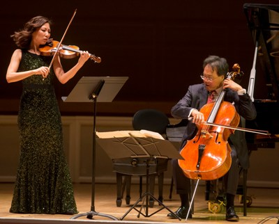 Stephanie Jeong and Yo-Yo Ma perform the Ravel Sonata for Violin and Cello (Todd Rosenberg)