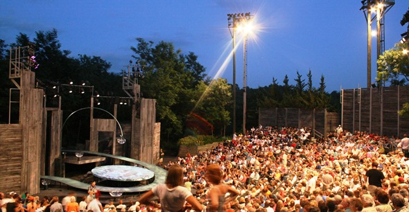 "American Players' outdoor Up-the-Hill Theatre will be scene of ""A Streetcar Named Desire."" (Courtesy American Players Theatre)"