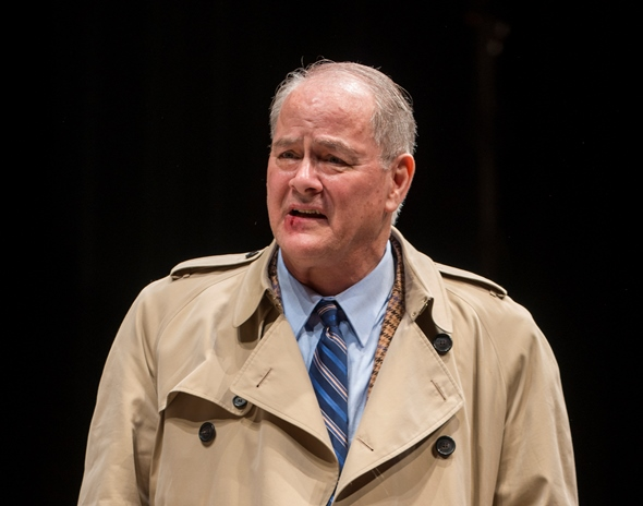 Francis Guinan as Ian, a father trying to reconnect with his family in Rory Kinnear's 'The Herd' at Steppenwolf. (Michael Brosilow)