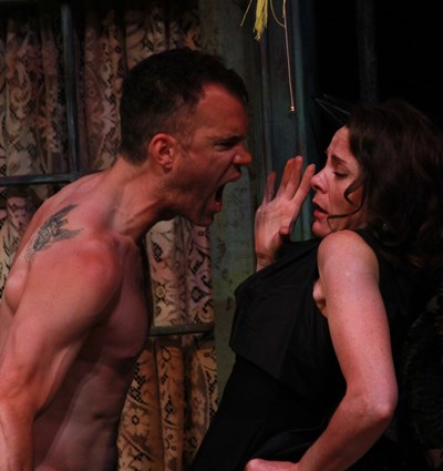 No more mister nice guy, Stanley (Eric Parks) screams accusations at Blanche (Tracy Michelle Arnold). (Carissa Dixon)
