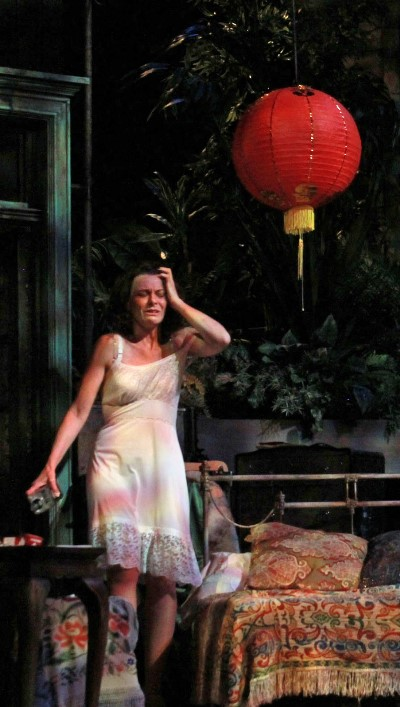 On a hot New Orleans night, Blanche (Tracy Michelle Arnold) tries to cool herself. (Carissa Dixon)
