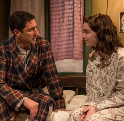 Anne (Sophie Thatcher) and her father Otto (Sean Fortunato) share a quiet interlude. (Michael Brosilow)
