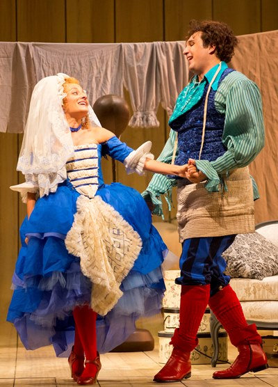 Happiness reigns for Susanna (Christiane Karg) and her intended husband Figaro (Adam Plachetka). (Todd Rosenberg)
