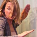 Kendra Thulin in the world premiere of 'The Cheats' at Steep Theatre. (Gregg Gilman)