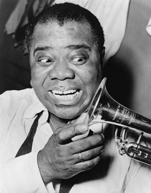 Satchmo in his heyday. (World Telegram and Sun photo by Herman Hiller, via Library of Congress)