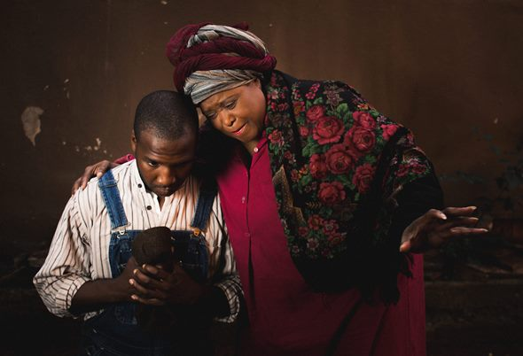 """Jerod Haynes and Jacqueline Williams star in August Wilson's """"Gem of the Ocean"""" at Court Theatre. (Joe Mazza/Brave Lux, Inc.)"""