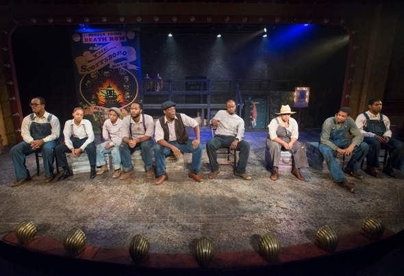 Unjustly incarcerated for rape, the nine Scottsboro boys enact a bleak farce at Raven.