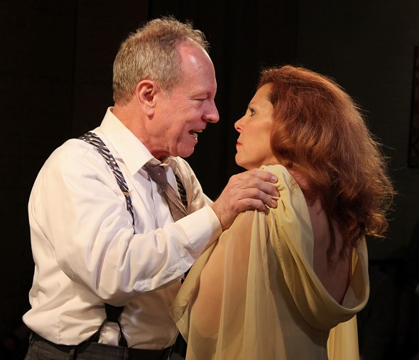 George (Brian Parry) and Martha (Jacqueline Grandt) in their comfort zone, at each other's throats. (Jan Ellen Graves)