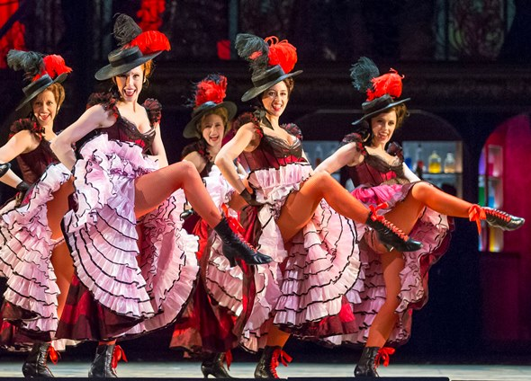 The famously saucy grisettes perform at Maxims' in 'The Merry Widow.' (Todd Rosenberg)