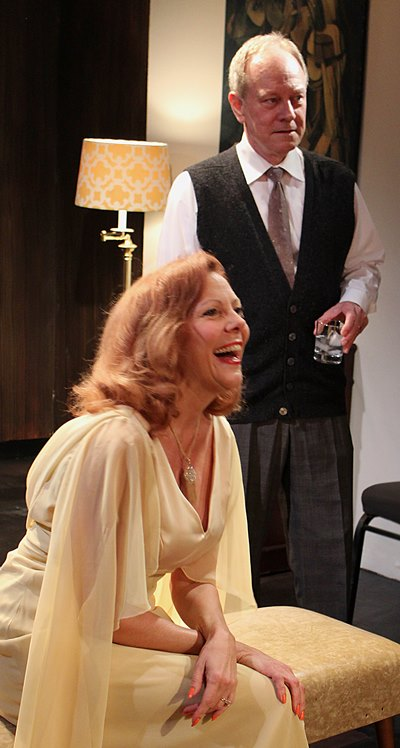 Martha (Jacqueline Grandt) and George (Brian Parry) look so happy, but it's early. (Jan Ellen Graves)